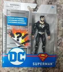 Dc Heroes Unite Superman Action Figure Black Beard Suit In Hand 🆓️ Shipping 🏆