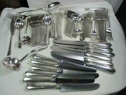 Towle Sterling Silver Lady Constance Flatware Set 92 Pieces Service For 12
