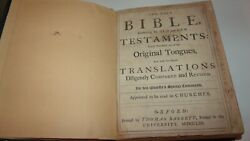 1796 Signed Grose Family King James Holy Bible Old New Testament Apocrypha