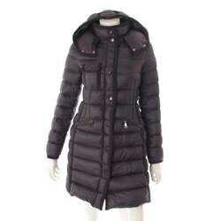 Authentic Moncler Hermine Down Coat 49339 Navy Size 00 Used Grade Ab