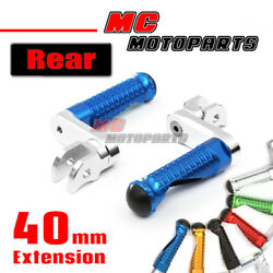 Cnc 40mm Mpro Rear Foot Pegs Footrest For Yzf R1 1000 R Thunderace Mt-07 Fz-07