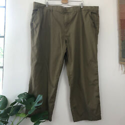 Men's Lacoste Casual Brown Chino Pants Big And Tall Size 50 Us Inseam 28
