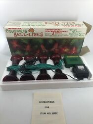 Vintage Christmas Favorite Songs Singalong Musical Bell Lights Tested Noma