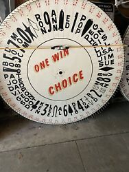 1950s Vintage Hand Painted Asbury Park Boardwalk Game Wheel Of Chance-150 Names