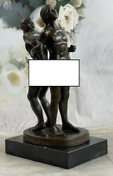 Collector Edition Two Nude Male In The Buff Gay Erotic Art Bronze Sculpture Gift