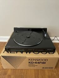 Vintage - Kenwood Kd-65fb Linear Tracking Turntable Record Player W/box Read