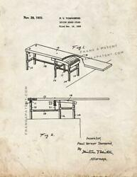 Diving Board Stand Patent Print Old Look