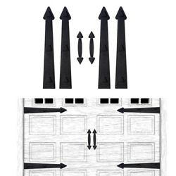 Magnetic Decorative Garage Door Hardware 6 Pieces Carriage Accents Faux Hand Gat