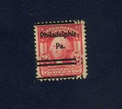 Us George Washington Two Cent 2andcent Red Stamp 1902 Shield Phila. Pa