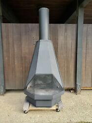 Extra Large Mid-century Modern Brutalist Vintage Fireplace Cone Fireplace