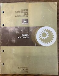 John Deere 3164d Oem Engine And Accessories Parts Catalog Pc-1416