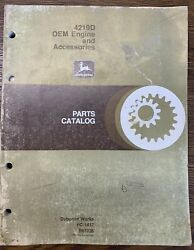 John Deere 4219d Oem Engines And Accessories Parts Catalog  Pc-1417 R57036