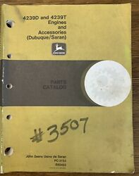 John Deere 4239d And 4239t Engines And Accessories Parts Catalog Pc-3153