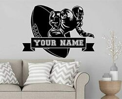 Personalized Football Custom Vinyl Decal Choose Your Name/man-caves Stickers