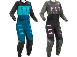 Fly Racing Womenand039s F-16 Jersey And Pant Combo Set Mx/atv Offroad Riding Gear 2022