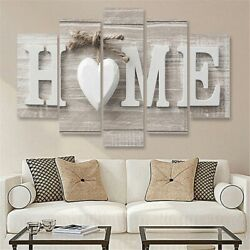 5Pcs Fashion Concise Wall Paintings Home Letter Printed Photo Art Wedding Decor