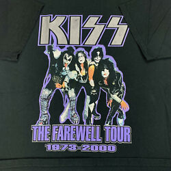 Kiss The Farewell Tour Ted Nugent 1973-2000 Rock Band Concert T-shirt Menand039s Xl