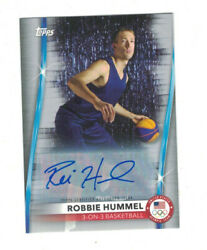 Robbie Hummel 2020 Topps Us Olympics 3x3 Basketball Silver Parallel Auto 8/50