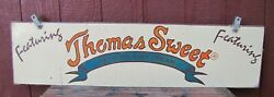 Thomas Sweet Delicious Ice Cream Vintage Double Sided Wooden Advertising Sign