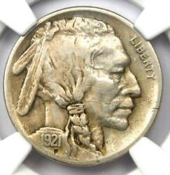 1921-s Buffalo Nickel 5c Coin - Ngc Xf Details Ef - Rare Date In Ef