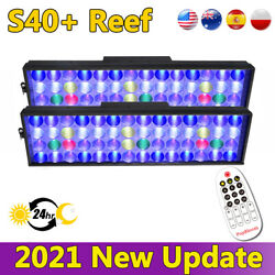 Timer Control Led Dimmable Aquarium Light For Coral Reef Grow Tank 48 120cm