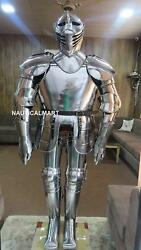 Antique Medieval Knight Full Body Armor Suit Halloween Reenactment Costume