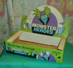Vintage Monster Heroes Rubber Jiggler Toy Original Retail Store Display Box Only