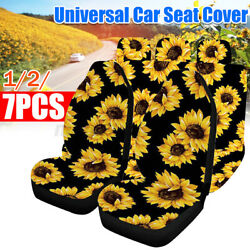 Universal Car Seat Covers 5-seats Polyester Safety Protectors Sunflower Pattern