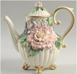 Fitz And Floyd Les Fleurs Coffee Or Teapot
