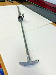 Porsche 356 A Chrome Emergency Brake Hand Pull Handle/assembly - Clean Cond.