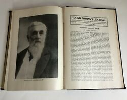 Book Of 1901 Young Woman's Journal Magazines - Antique Lds Mormon Book Ylmia