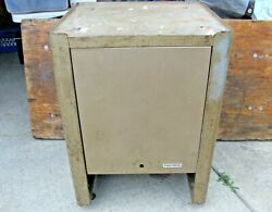 Vintage 1960's Craftsman Crown Logo Rolling Radial Arm Saw Stand / Tool Chest