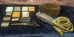 Vintage 40s Barbers Lot With Andis Master Electric Hair Clippers Works Great