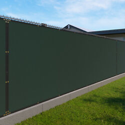 Green 480gsm 4ft Privacy Screen Fence Commercial Windscreen Mesh Cover
