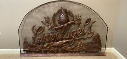 Leinenkugel Metal Fireplace Screen. Extremely Rare And Hand Made- Craft Beer Decor