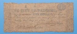 Wpcoins 1 Note City Of Natchez Mississippi May 30th 1862 L-29 R-07 Rare