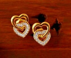 0.45ct Natural Round Diamond 14k Hallmark Solid Yellow Gold Earrings I886