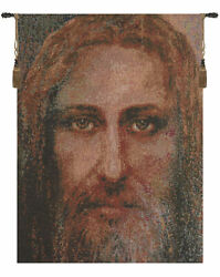 Face Of Christ Religious Icon Portrait Italian Tapestry Wall Art Hanging New
