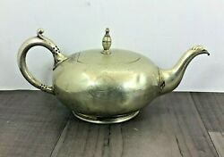 Authentic Antique Teapot James Deakin And Sons Silver Plate Royal Hotel Plymouth