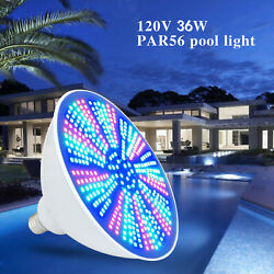 40w Color Changing Led Swimming Pool Bulb Rgb 15 Modes W/ Remote Control Sale Us