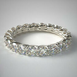 2.00 Ct Lab Grown Diamond Wedding Eternity Band Solid 14k White Gold Size 5 6 7