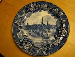 WEDGWOOD BOSTON IN 1768 COLLECTOR PLATE FREE U.S. SHIPPING