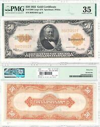 1922 50 Gold Certificate Fr 1200 Pmg Choice Very Fine-35
