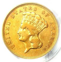 1857-s Indian Three Dollar Gold Coin 3 - Pcgs Vf25 - Rare S Mint Coin