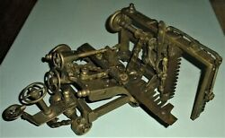 Antique Early1900s Tractor Patent Model Cutting Crops/bush By John A Freeze Vafo