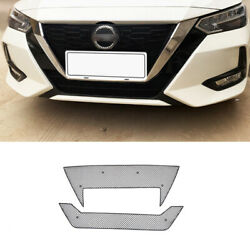 Black Steel Front Bumper Anti-insect Net Grille For Nissan Sylphy Sentra 20-2022