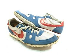 Rare Vintage 80's Nike Waffle Running Shoes Silver Red White Nos Sz 12