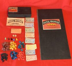 Vintage 1930's Easy Money Game Small Box Version Dual Patent Board Complete