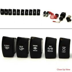 Boat Dash Switch Set | Ignition Emergency Power Receptacle 15 Piece