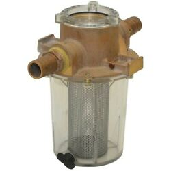 Groco Boat Raw Water Strainer Arg-1000-s   1 Inch Barbed Bronze
